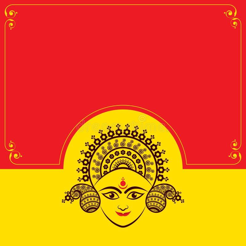 Navratri utsav greeting card stock illustration