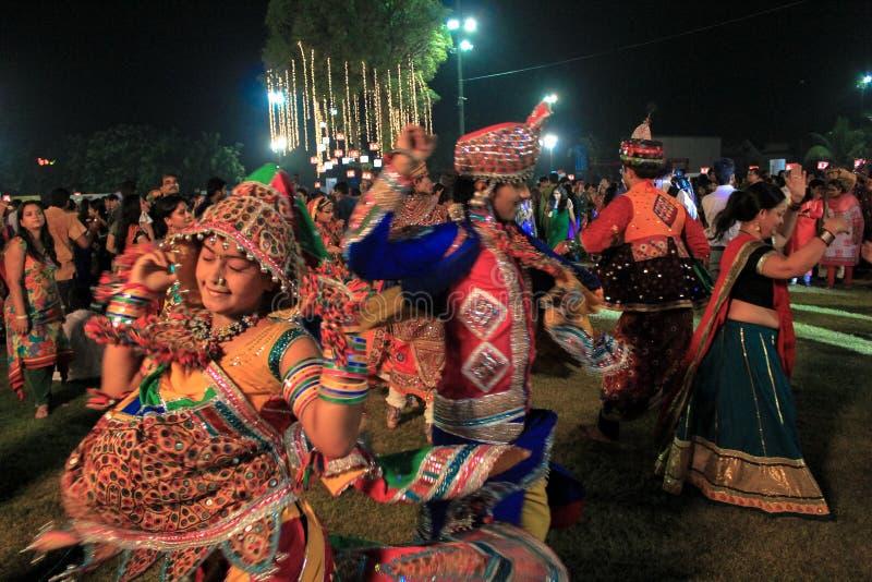 Navratrifestival, Gujarat, India-10 stock afbeeldingen