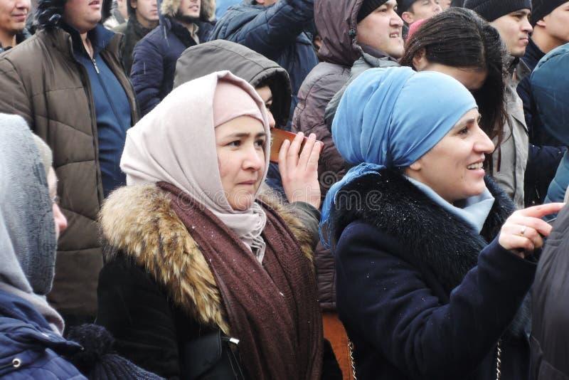 Navruz假日庆祝在莫斯科 库存图片