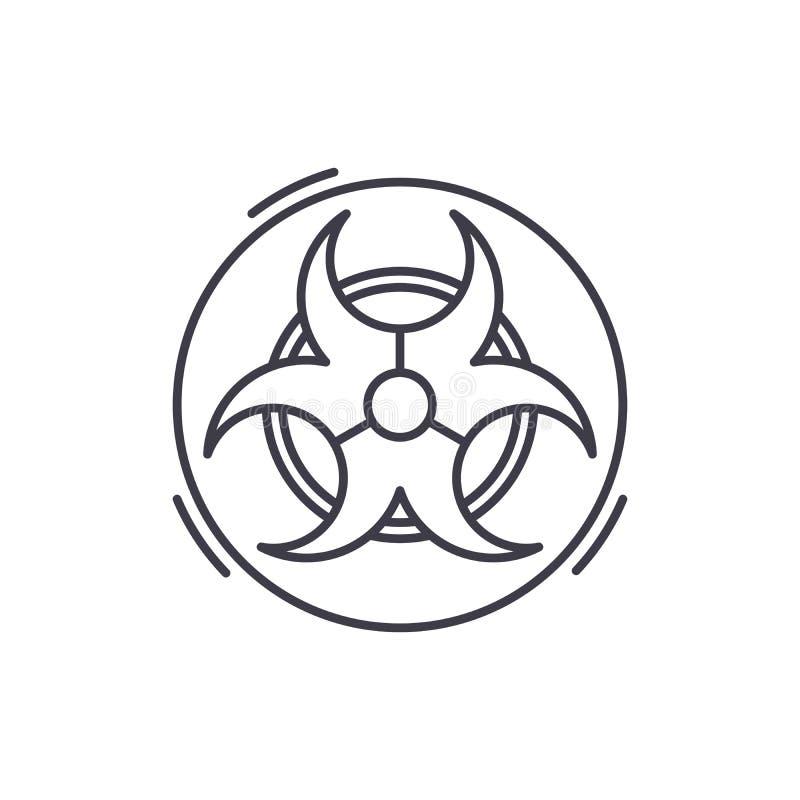 Navulbaar het pictogramconcept van de batterijlijn Navulbare batterij vector lineaire illustratie, symbool, teken vector illustratie
