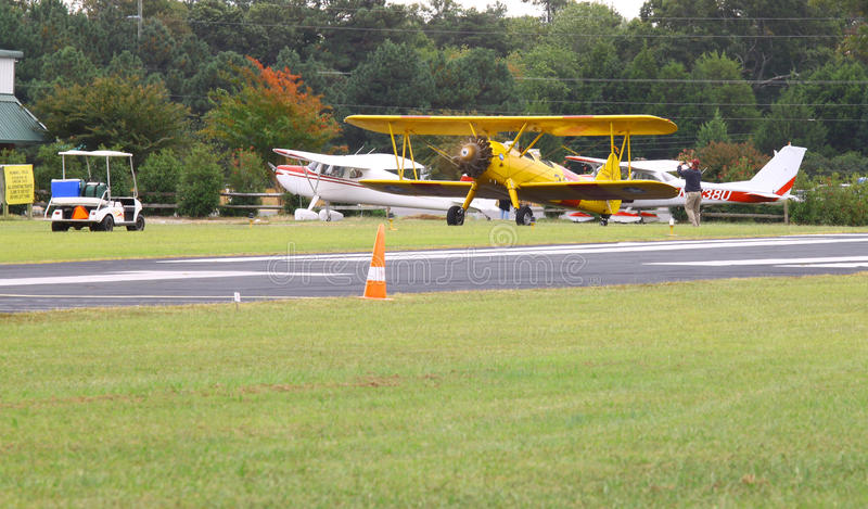Navy Biplane stock photos