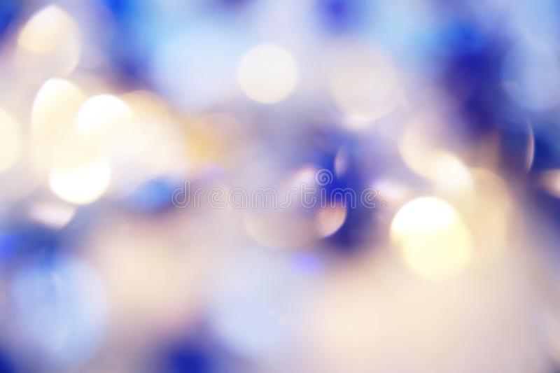 Navy Blue abstract background with blurred defocus bokeh light royalty free stock photography