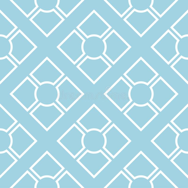 Navy blue geometric ornament. Seamless pattern royalty free illustration