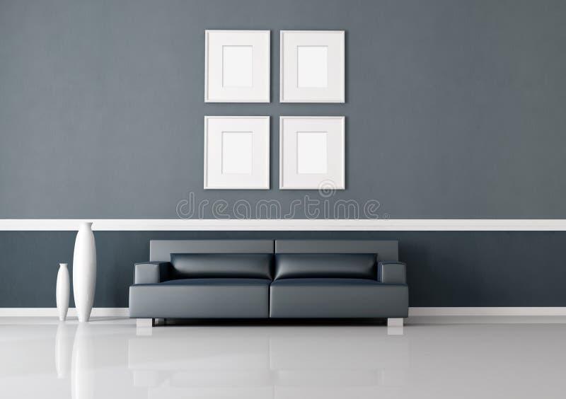 Navy blue interior royalty free illustration