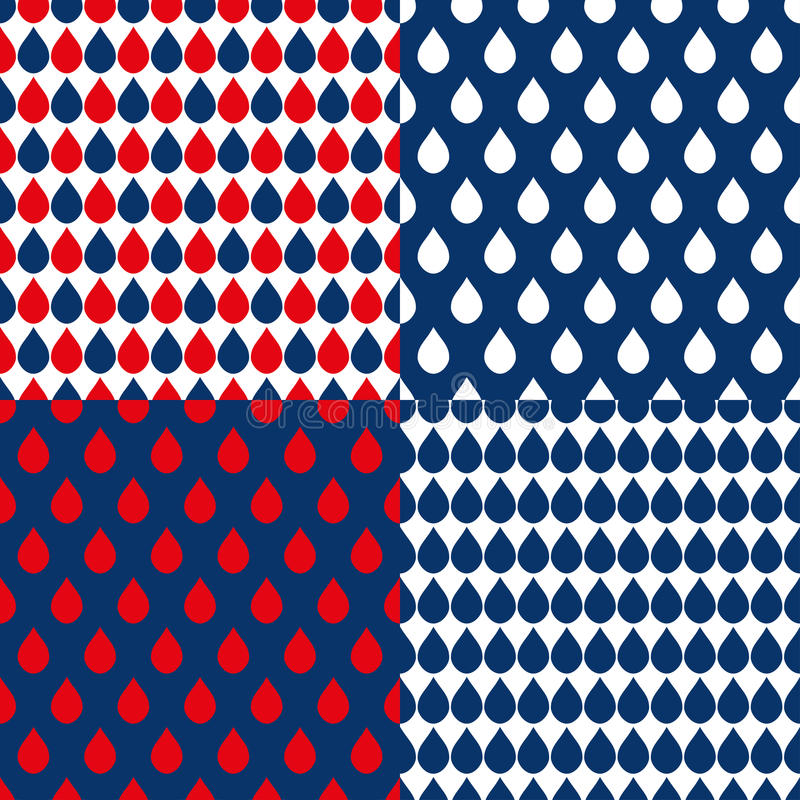Free Navy Blue Red Water Drops Background Stock Photos - 65342263