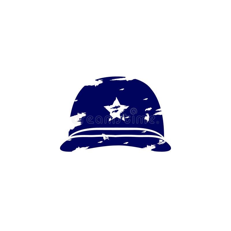 Free Navy Blue Soldier`s Helmet America Flag Illustration Of American Veterans Day, Stock Photography - 180616752