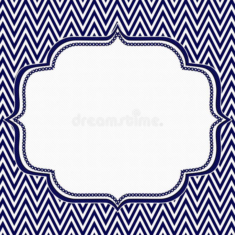 Download Navy Blue And White Chevron Zigzag Frame Background Stock Image