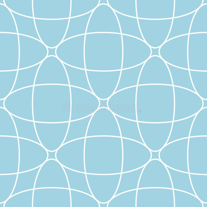 Navy blue and white geometric ornament. Seamless pattern royalty free illustration