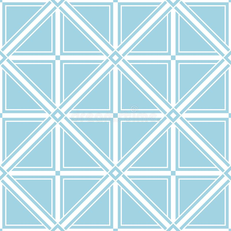 Navy blue and white geometric seamless pattern vector illustration