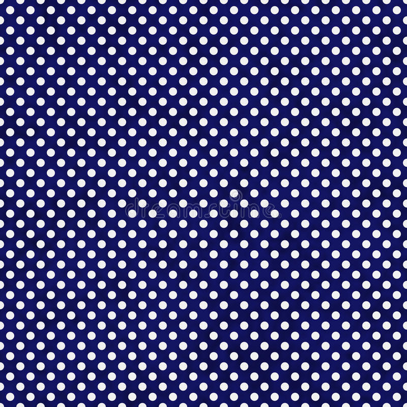 Navy Blue and White Small Polka Dots Pattern Repeat Background royalty free illustration