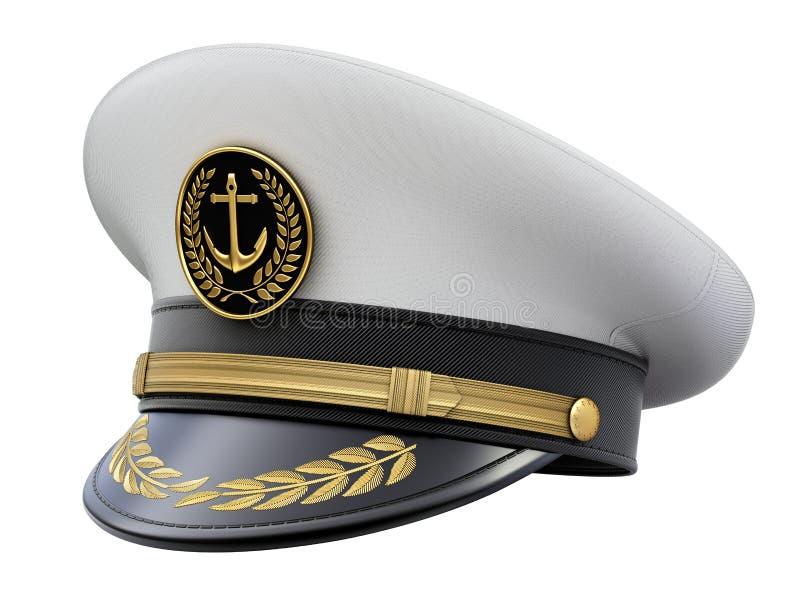 Navy captain hat vector illustration