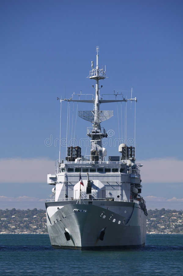 Navy Destroyer royalty free stock images