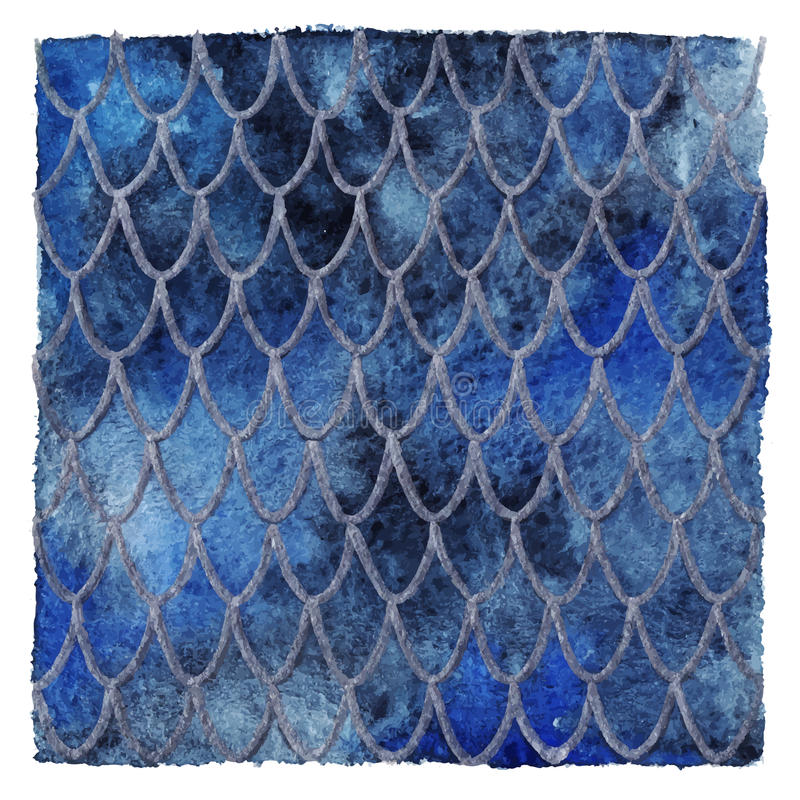 Dragon skin scales blue sapphire silver vector pattern texture background stock illustration
