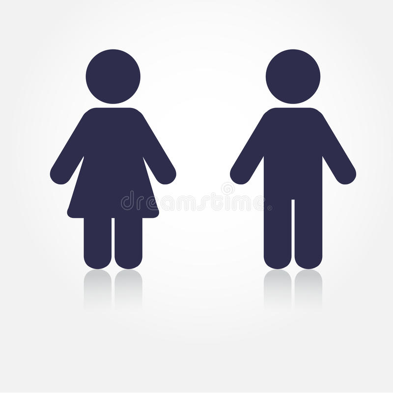 Download Navy Man And Woman Icons With Shadows Illustration For Print Web WC Icon