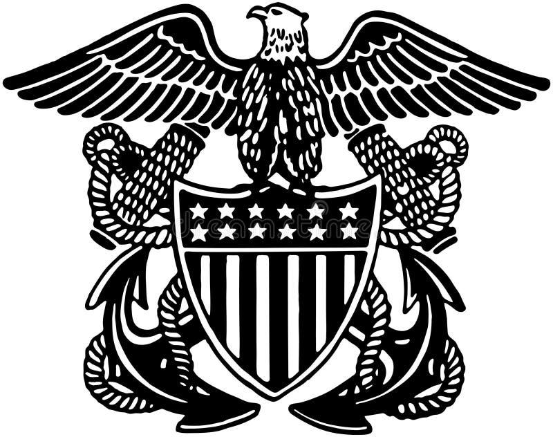 Navy Officer Crest stock illustration