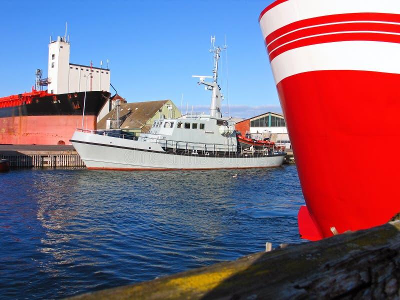 Navy patrol boat. Navy patrol coast guard boat in a port royalty free stock photo