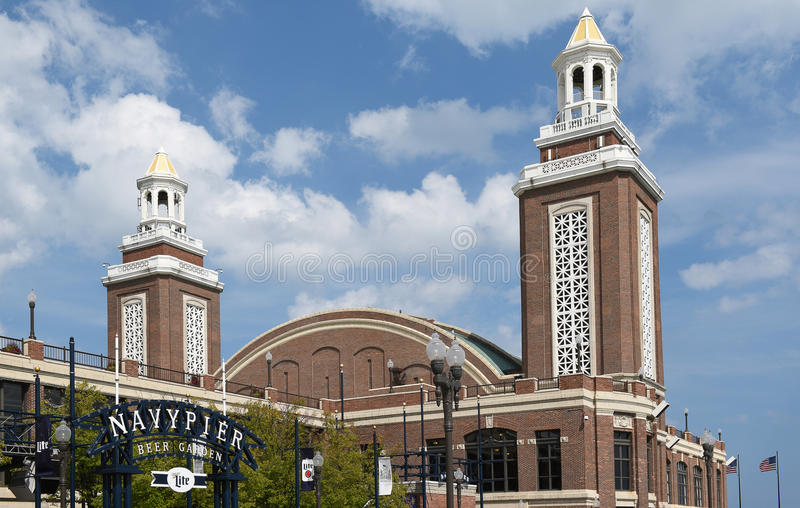 Navy Pier Beer Garden and Aon Grand Ballroom royalty free stock images