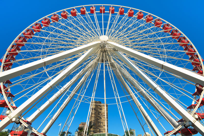 Navy Pier Chicago Ferris Wheel royalty free stock photos