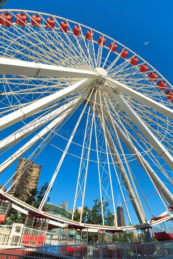 Navy Pier Chicago Ferris Wheel stock image