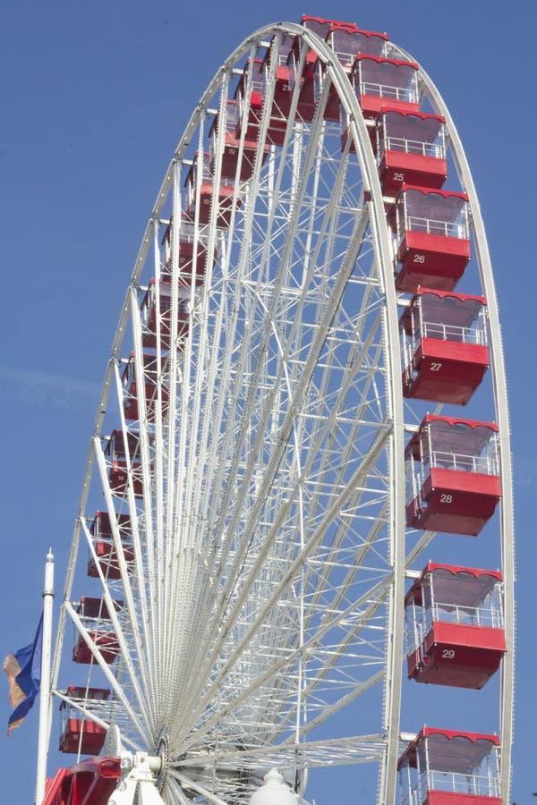 Navy Pier ferris wheel. The ferris wheel in Navy Pier royalty free stock photos