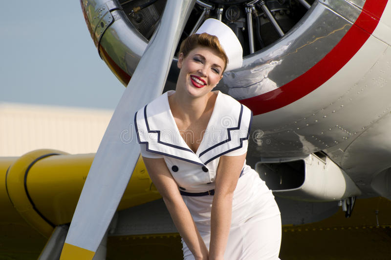 Navy pinup girl royalty free stock photography