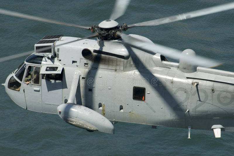 Navy rescue chopper royalty free stock photo