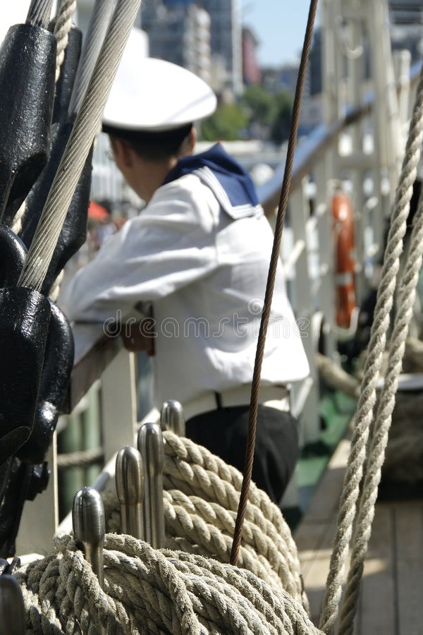 Navy Sailor In Port Stock Images