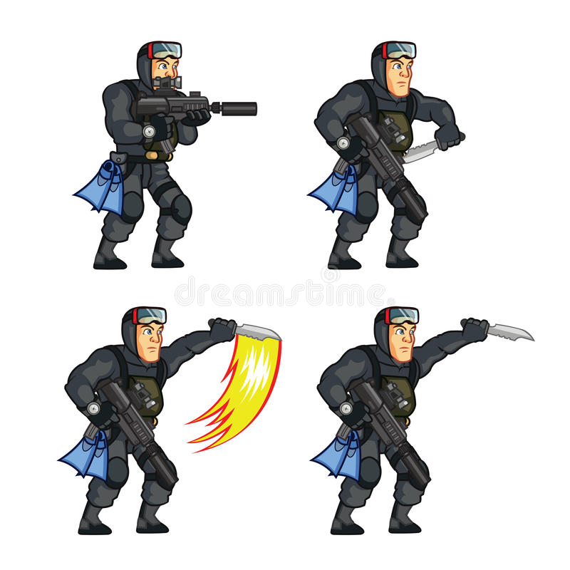 Free Navy Seal Game Animation Sprite Stock Photo - 56978950