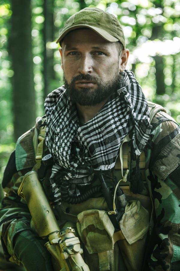 Navy SEAL Taliban hunter stock photography