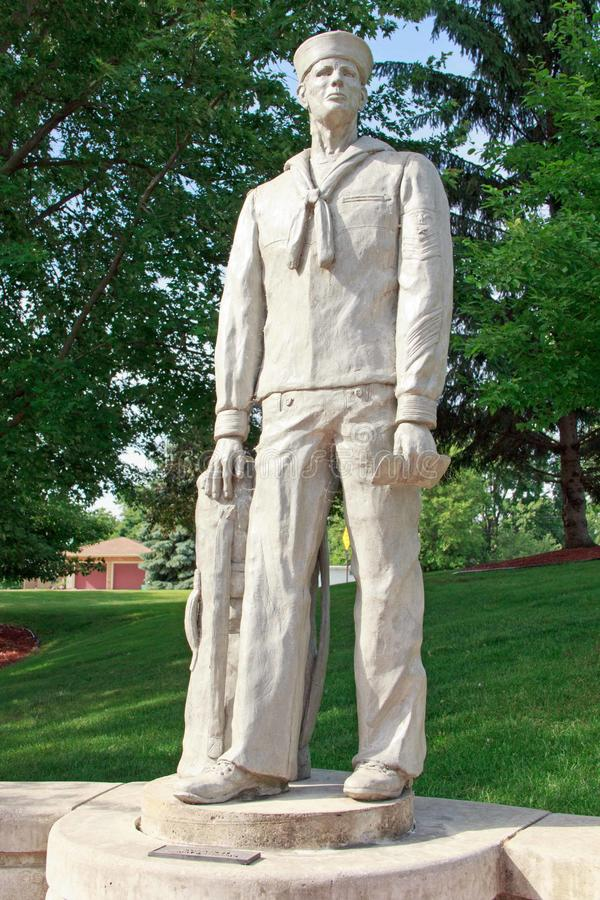 Navy Statue. At Veterans memorial park in Hudsonville Michigan stock photo