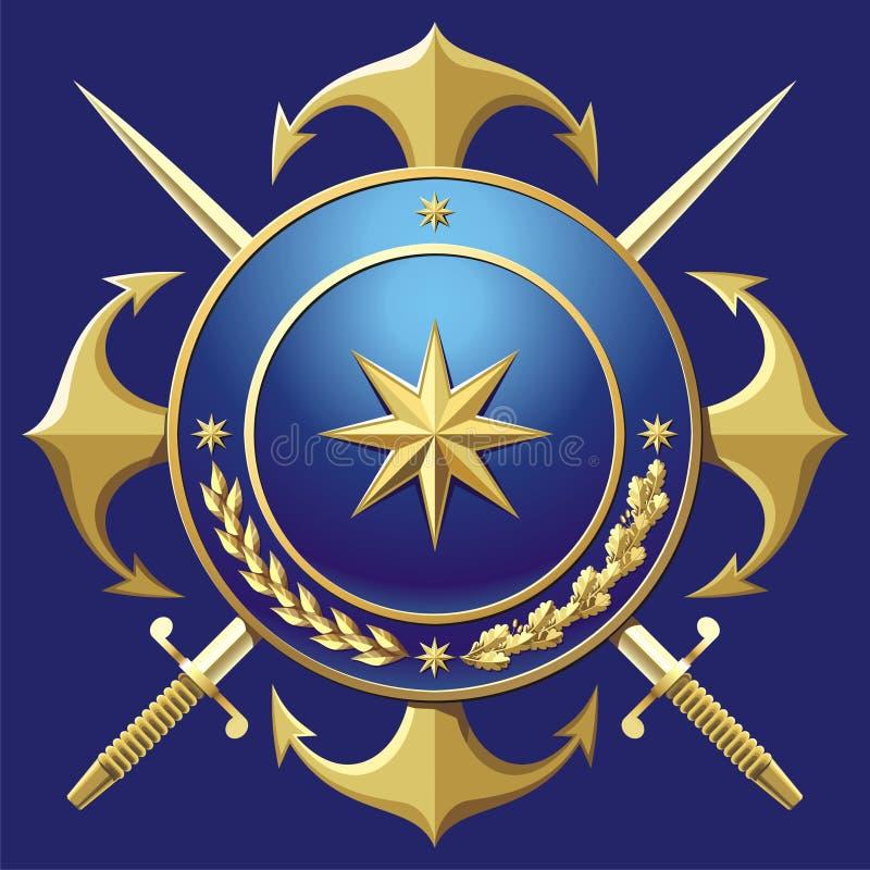 NAVY style badge vector illustration