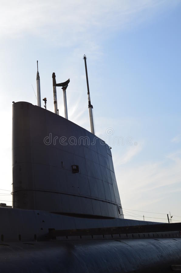 Navy Submarine. British Submarine in Chatham Docks,Kent,England stock photos