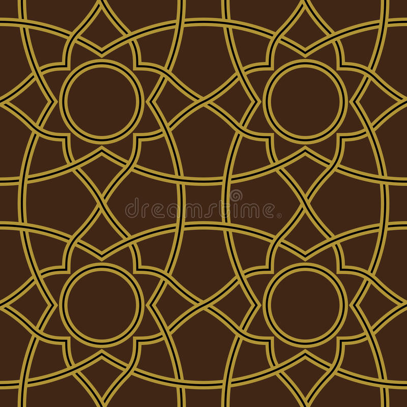Nawa Seamless Pattern Nine stock illustration
