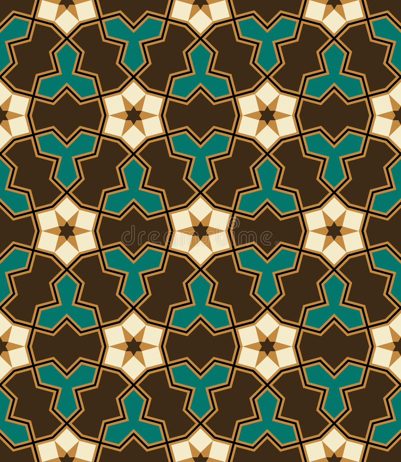 Nawa Seamless Pattern Six vector illustration