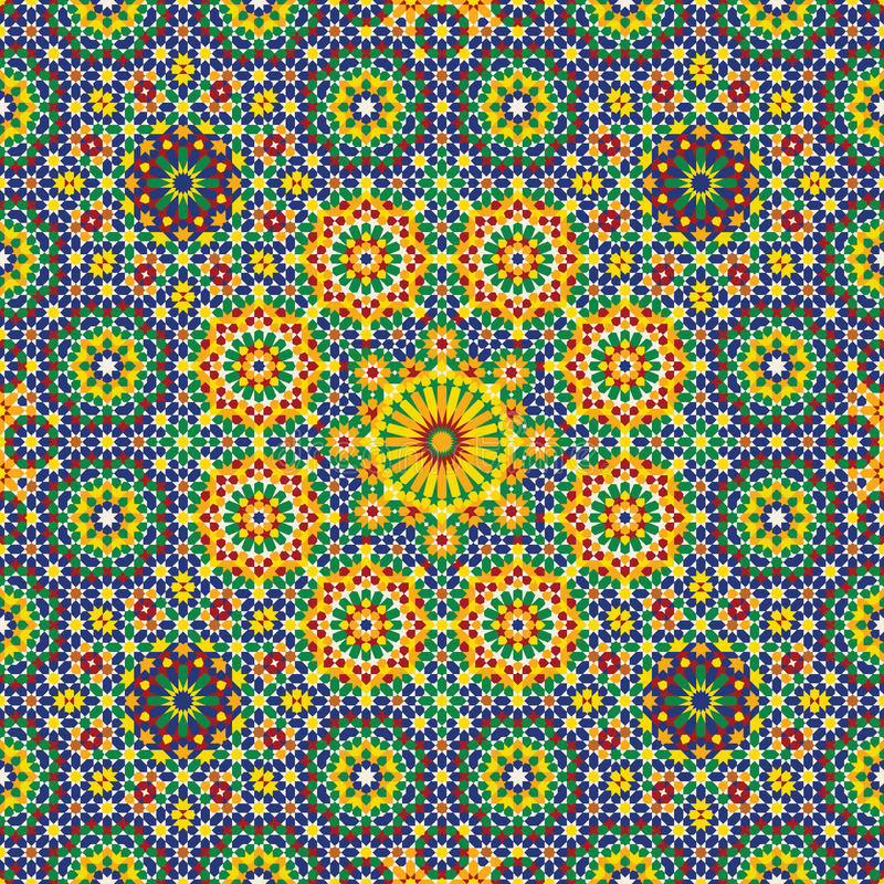 Nawa Seamless Pattern Three royalty free illustration