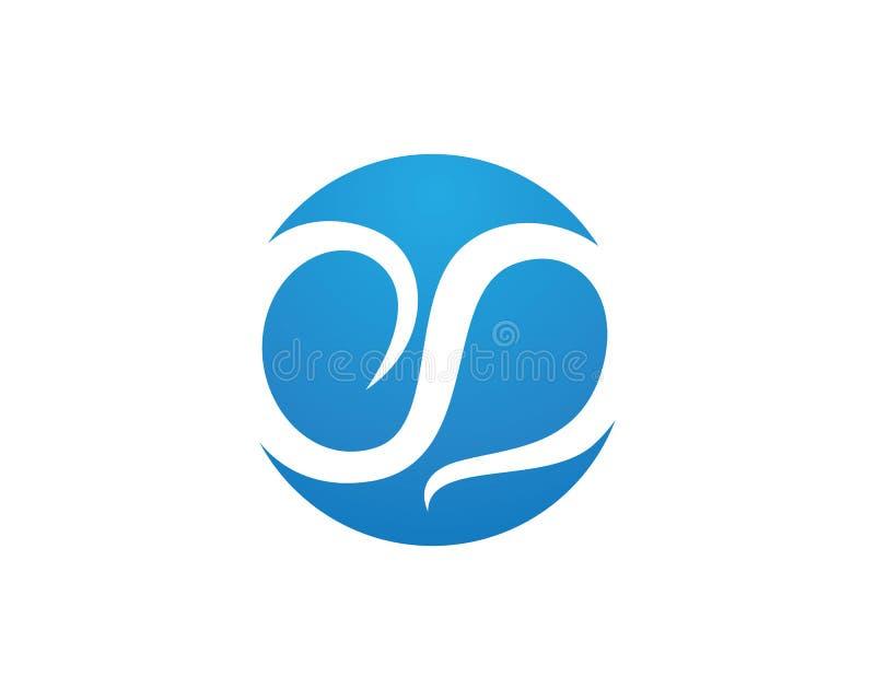 Nawadnia loga listowego S loga projekta Biznesowego korporacyjnego wektor ilustracji