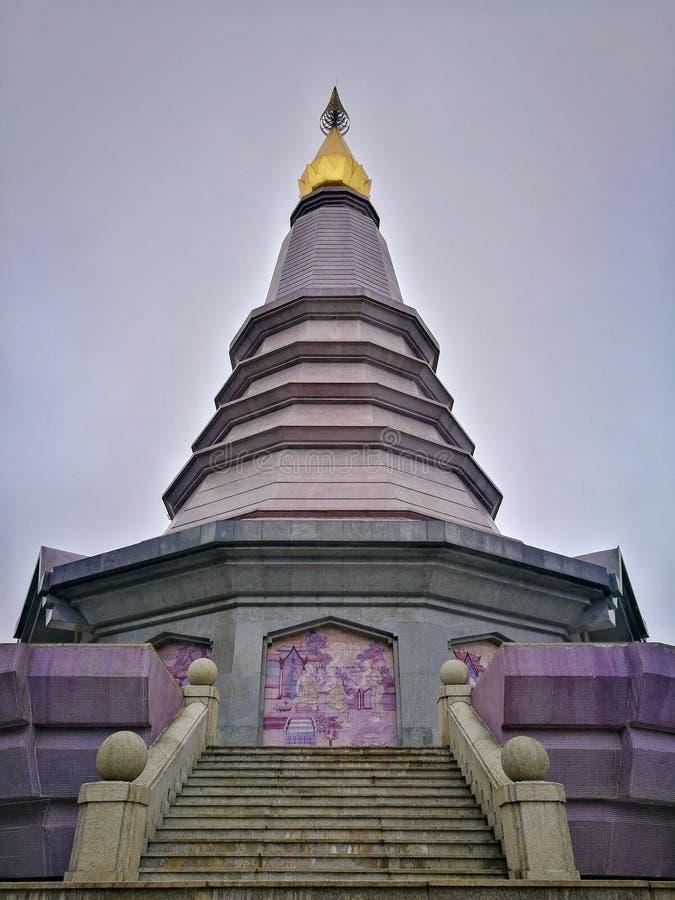 Nawamayteedon świątynia, Doi Inthanon park narodowy, Chiang Mai zdjęcia stock