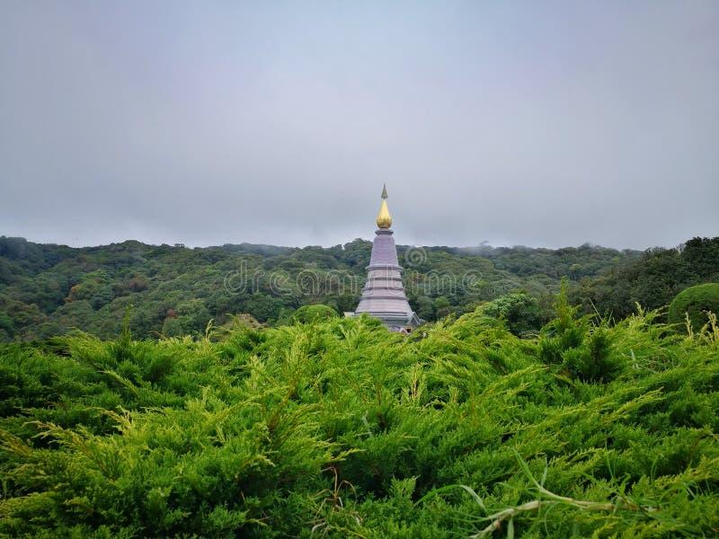 Nawamayteedontempel, het Nationale Park van Doi Inthanon, Chiang Mai stock foto's