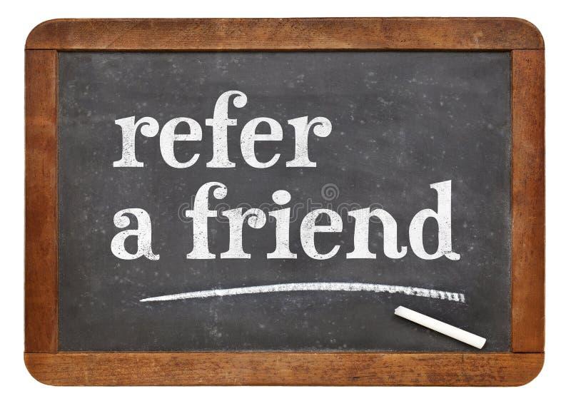 Nawiązywać do przyjaciela blackboard znaka fotografia royalty free