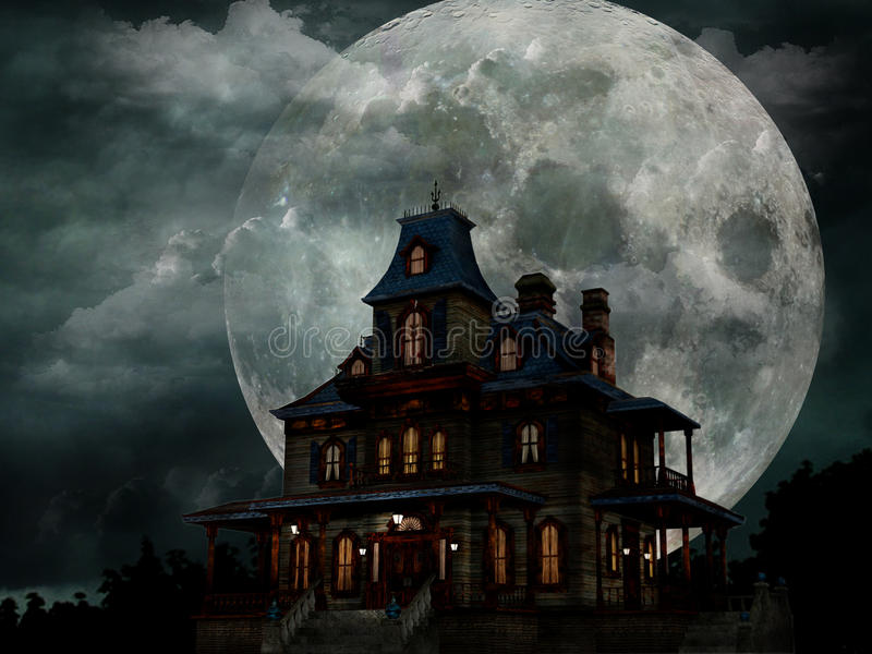nawiedzający dom ilustracji