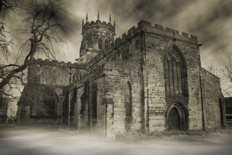nawiedzony kościoła obrazy royalty free