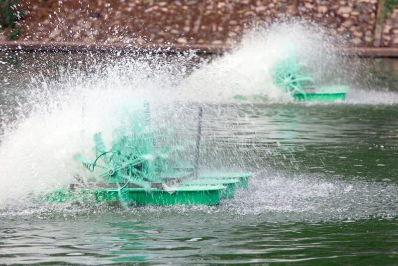 Nawierzchniowa przewietrznik depresja - przyśpiesza motorową wodną wodę obraz stock