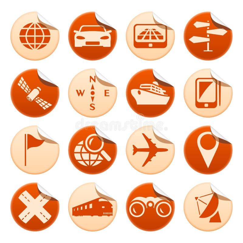 nawigaci majcherów transport ilustracja wektor