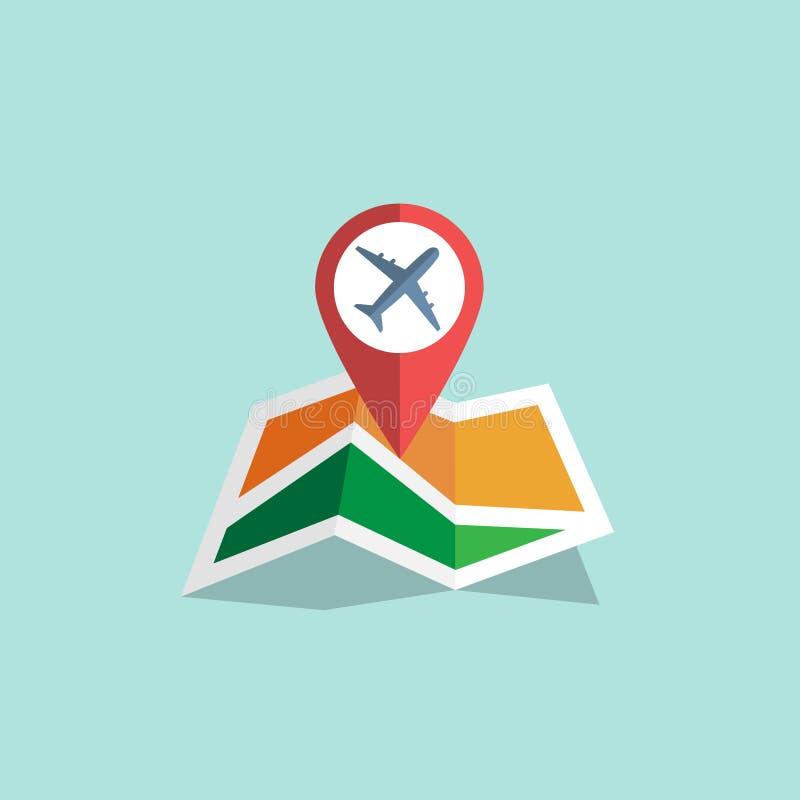 Nawigaci mapy ikona ilustracja wektor