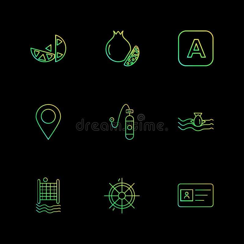 nawigacja, id karta, pomarańcze, uprawiać ziemię rolny, wiejski, owoc ilustracja wektor