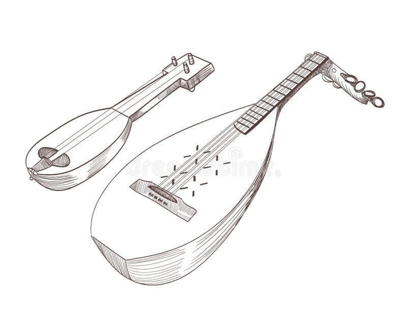 nawleczony instrumentu musical ilustracji