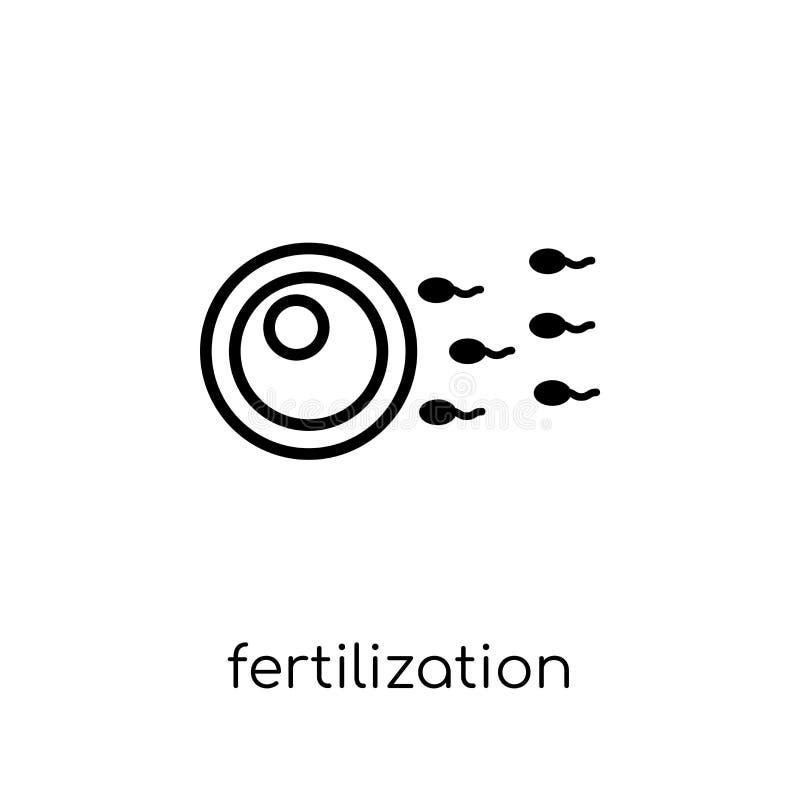 Nawożenie ikona Modny nowożytny płaski liniowy wektorowy Fertilizati royalty ilustracja