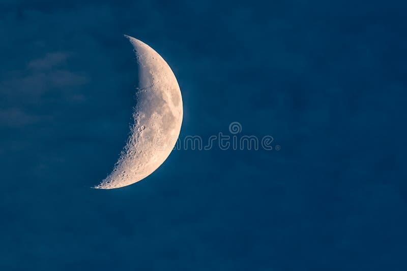 Nawoskować Półksiężyc księżyc zdjęcie royalty free