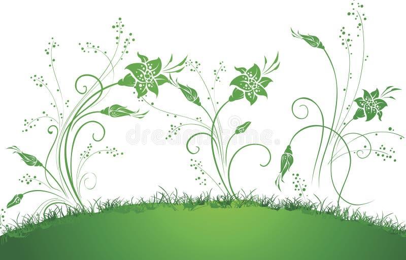 nawracający kwiaty ilustracji