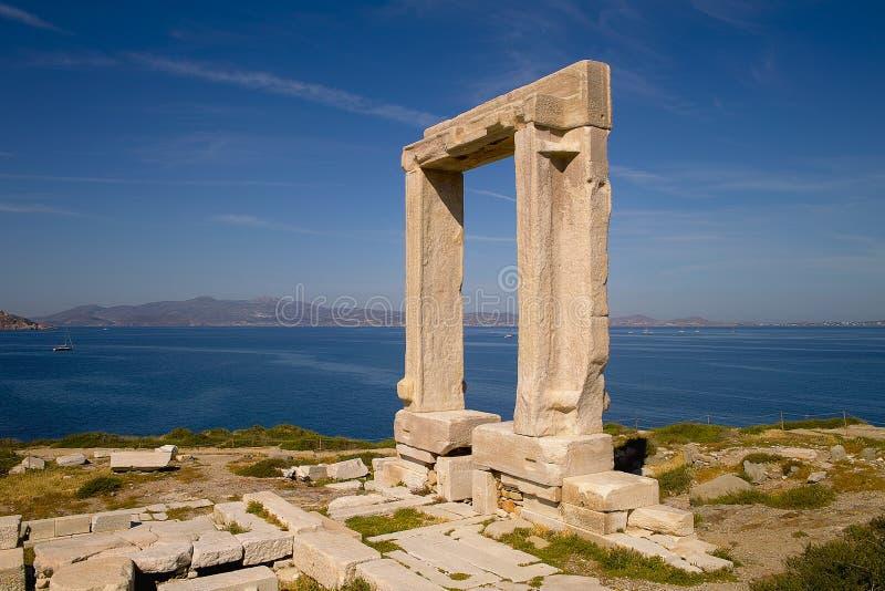 Naxos的门 库存图片